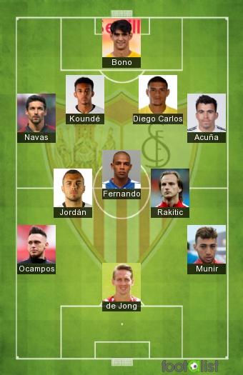 Sevilla FC 2020-2021 Once tipo