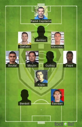 ÉQUIPE TYPE SCO ANGERS (Le 11 des joueurs formés au club)