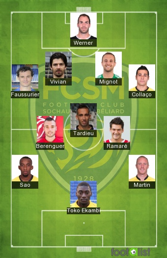 Sochaux 2016-2017 Once tipo