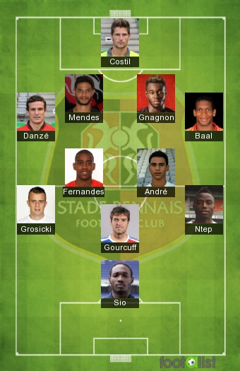Rennes 2016-2017 Once tipo