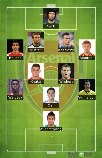 Arsenal 2017-2018 - Equipe-type