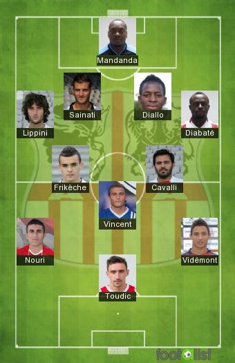 Ajaccio 2016-2017 Equipe-type
