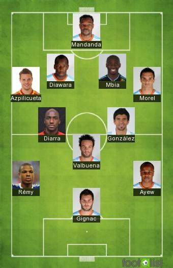 Equipe de l'OM Saison 2011/2012