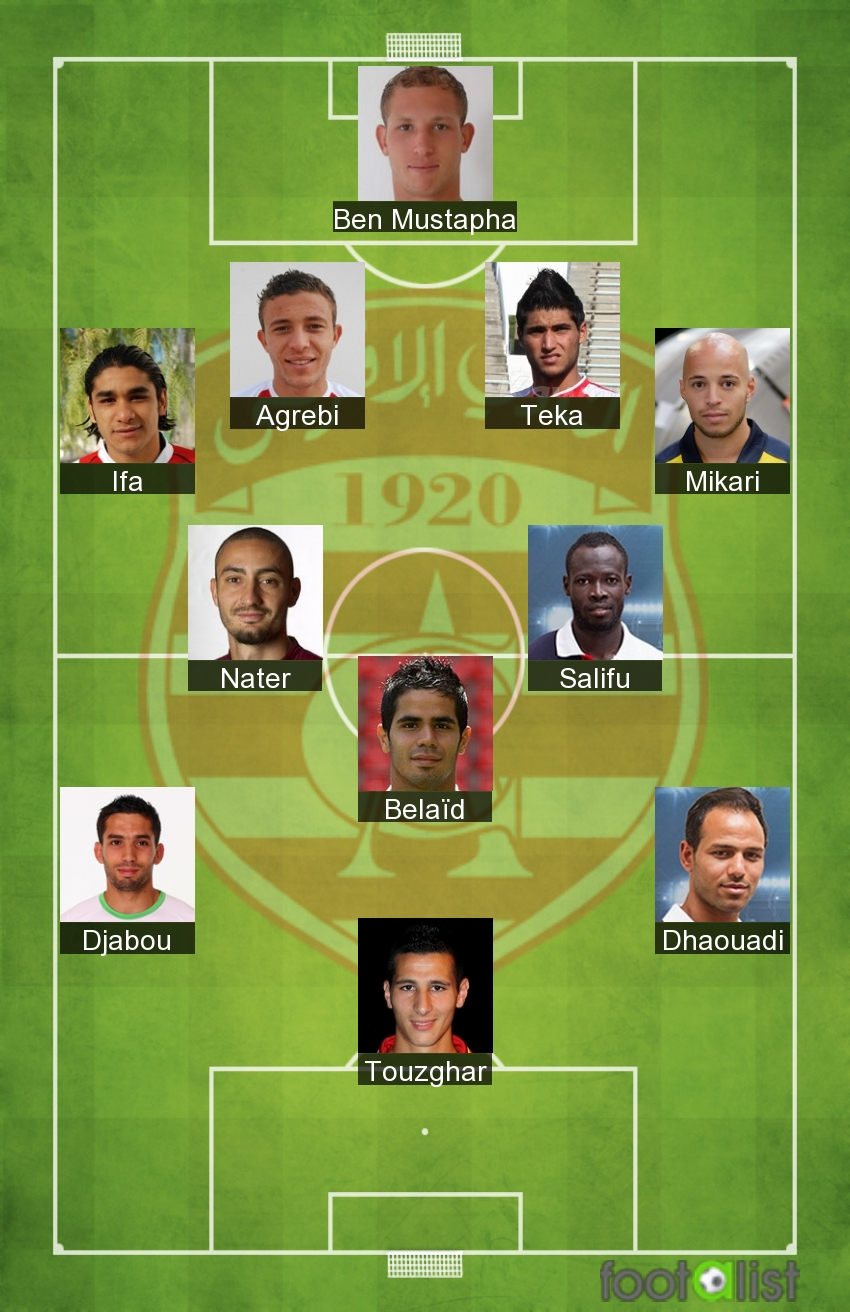 Club Africain équipe-type