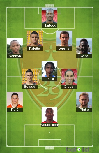 Brest once tipo 2016-2017