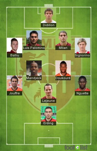 FC Metz 2016-2017 Once tipo